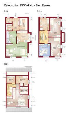 Grundrisse Doppelhaus Modern Mit Satteldach Architektur   5 Zimmer, Grundriss  Schmal, Fertighaus, Erdgeschoss