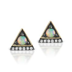 jane taylor opal stud earrings