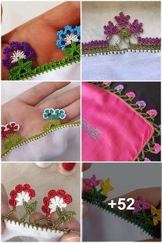 Baby Knitting Patterns, Crochet Stitches, Lana, Crochet Necklace, Ribbon, Flowers, Crochet Hair, Bullion Embroidery, Crochet Edgings