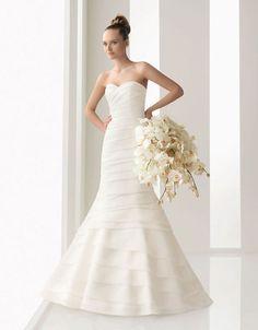 Strapless sheath / column organza bridal gown,sell wedding dress,sell wedding dress,sell wedding dress