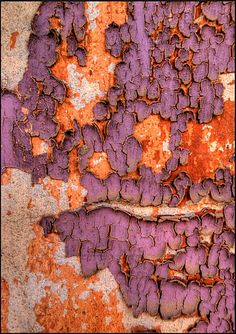 Beautiful combo: Weland Peel in lavender and orange Patterns In Nature, Textures Patterns, Color Patterns, Wabi Sabi, Peeling Paint, Orange And Purple, Texture Art, Abstract Photography, Color Combos