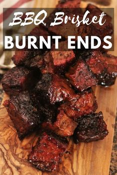My BBQ brisket burnt ends recipe comes straight from the pit masters in Kansas City's biggest BBQ joints. Slow smoked brisket point is cubed and braised in a sweet and tangy BBQ sauce for the most tender, melt in your mouth bites of meat candy. Traeger Recipes, Smoked Meat Recipes, Grilling Recipes, Beef Recipes, Grilling Ideas, Recipies, Chuck Roast Recipes, Beef Tips, Game Recipes