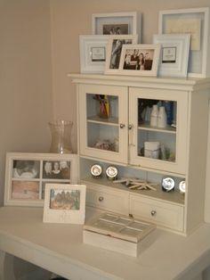 medicine cabinet a perfect piece to organize craft supplies.