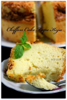 Dapoer Joglo: Chiffon Cake Tape Keju Bolu Cake, Resep Cake, Chiffon Cake, Cheesecakes, Cake Cookies, Cake Recipes, Almond, Tape, Food And Drink
