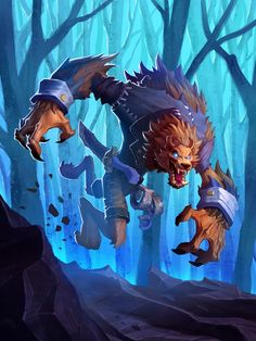 New art I painted for The Witchwood! Art Warcraft, World Of Warcraft, Character Concept, Character Art, Concept Art, Furry Art, Fantasy Creatures, Mythical Creatures, Werewolf Art
