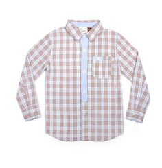 FORE AXEL and HUDSON L/S Classic Check Button Up Plaid Shirt – Dani BOY Kids