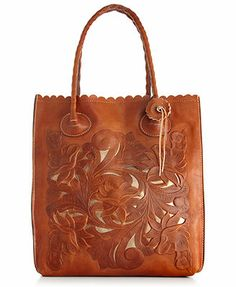 Patricia Nash Handbag, Tooled Cavo North South Tote