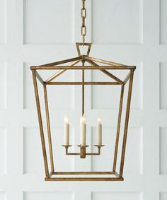High Street Market - Medium Darlana Lantern, Gilded Gold