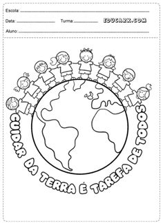 atividades sobre o planeta terra para colorir Ego Quotes, Earth Day Activities, Finger Plays, Step Kids, Day Book, Preschool, Education, Planets Activities, Children Ministry