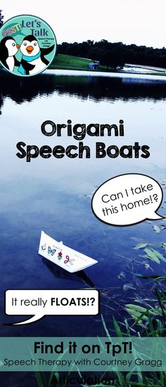 Get ready to AMAZE your students in speech therapy with these origami articulation boats! Test them out in a shallow bin of water or send them home!