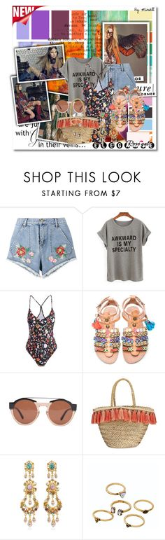 """Untitled #481"" by anonymousleaf ❤ liked on Polyvore featuring House of Holland, Elina Linardaki, Marni, Flora Bella, Ben-Amun, WithChic, WALL and Kate Spade"