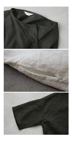 BerryStyle: Joie de Vivre 프렌치 린넨 와셔 소형선 선장 코쿤 원피스 | 라쿠텐 일본 Women's Fashion, Sewing, Grey, Pants, Mindful Gray, Fashion Women, Needlework, Trousers, Costura