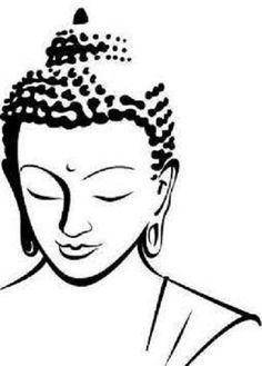 49 trendy line art tattoo draw tatoo Buddha Tattoo Design, Buddha Tattoos, Buddha Kunst, Buddha Art, Buddha Head, Art Sketches, Art Drawings, Simple Sketches, Budha Painting