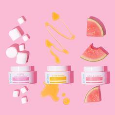 Violet Tinder Studios X Bliss Flat Lay Photography, Beauty Photography, Product Photography, Cosmetic Photography, Marshmallow Face, Foto Still, Beauty Bakerie, Skin Care Routine 30s, Beauty Skin