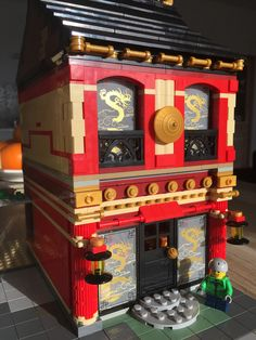 Lego MOC Modular • Chinese Restaurant and Pharmacy http://www.flickr.com/photos/98749353@N05/36283391481/