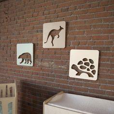 Turtles and kangaroos and bears, oh my! #nursery #artwork #ecofriendly