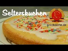 Seltzer cake - food in the GDR: cooking and baking recipes for East German court . German Cake, Cake Cookies, Baking Recipes, Bakery, Cheesecake, Food And Drink, Pudding, Yummy Food, Sweets