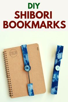 Learn how to make your own handmade bookmarks, using fabric, elastic and a button. These DIY bookmarks make great gifts, perfect projects for fabric scraps, or stocking gifts diy hand made Create your own shibori book marks · vicky myers creations Creative Bookmarks, Diy Bookmarks, How To Make Bookmarks, Bookmark Making, Felt Bookmark, Corner Bookmarks, Crochet Bookmarks, Scrap Fabric Projects, Fabric Scraps