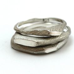 Three Stacking Rings (Set) by Lacuna Jewelry | http://adornmilk.com