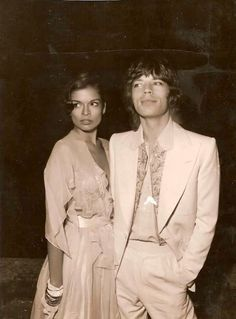 Bianca and Mick Jagger - Icon Trend, the Design Blog