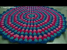 How to crochet a round granny rug part 1 of 3-Learn to crochet in Tamil By Nagu's Handwork - YouTube