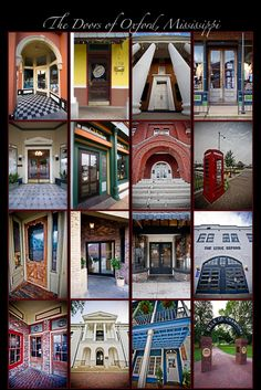 Mark Yacovone Photography.  The Doors of Oxford Mississippi.
