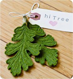 Oak Leaf Felt Earrings