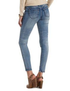 """Plus Size Med Wash Denim Refuge """"Push Up Legging"""" Lifting Skinny Jeans by Refuge at Charlotte Russe – Size 16"""