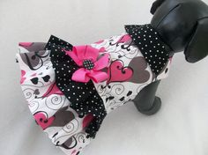 Small Ready to Ship Valentine Double Ruffle by graciespawprints, $18.95