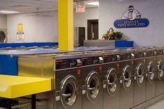 Harvey Washbangers  Location: College Station, Texas   Price: 8 - 10   Someone thought of a way to make laundry day more pleasant: you can now drown your sorrows about shrunken woolens with food and beverage at Harvey Washbangers bar, grill and launderette. A light board allows diners to monitor their laundry's progress without getting up to check.   The food is basic college fare, with offerings like the Banger burger, wings and chili.
