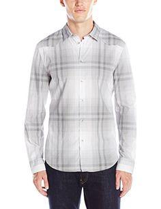 Calvin Klein Jeans Men s Ombre Plaid Shirt 14ebbd5f23f4
