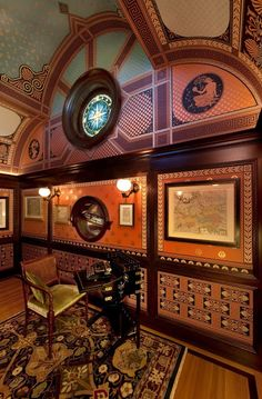 Victorian house interior decor - The Map Room The Macdonald Mansion