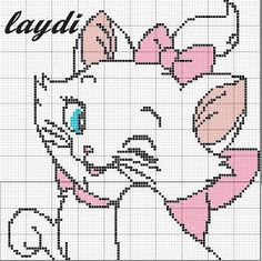 Free Cat Marie Cross Stitch Pattern