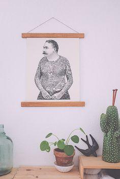 J'ai reçu de la part d'Urban Outfitters une très jolie affiche. Une illustration qui chez nous, plait autant à monsieur..