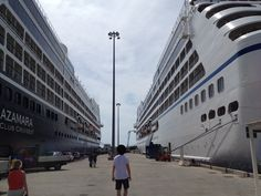 Azamara Quest and Oceania Nautica, they were identical sister ships in a previous life, now they are in competition with each other. If you like one you will love the other