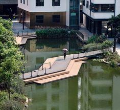 Guangzhou Aerotropolis Cultural Tourism Town by Guangzhou SPI Design Co., LTD – Page 2 – mooool Landscape Plans, Urban Landscape, Landscape Architecture, Landscape Design, Architecture Concept Diagram, Eco City, Rustic Apartment, Pedestrian Bridge, Green Building