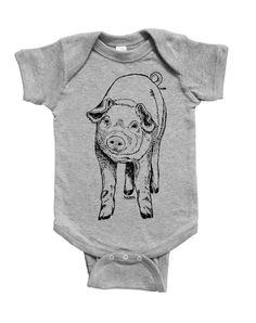 Farm Animal Baby One Piece - Cute One Piece Jumper - Piglet - Pig Baby Clothes - New Mom Gift - Baby Shower Gift - Funny Animal Clothes Baby Shower Gifts For Boys, Baby Boy Shower, Animal Clothes, Pet Clothes, Farm Animals, Funny Animals, One Piece Jumper, Diy Baby Shower Decorations, Baby Shower Desserts