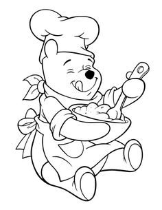 Winnie The Pooh Coloring Pages For Kids — Mister Coloring Easy Coloring Pages, Cartoon Coloring Pages, Disney Coloring Pages, Coloring Pages To Print, Coloring Pages For Kids, Coloring Books, Kids Coloring, Winnie Pooh Dibujo, Winnie The Pooh Drawing
