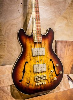 Warwick Star Bass II Laminated Spalted Maple C Class Vintage Sunburst Transparent High Polish Cocobolo fingerboard