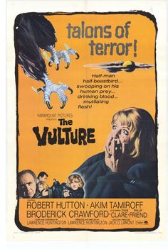 The Vulture (1967) - A mad scientist turns himself into a half-man, half-bird monster to avenge the death of his ancestor!