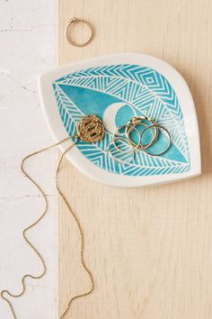Demetria Chappo Turquoise Spirit Eye Catch-All Dish - Urban Outfitters