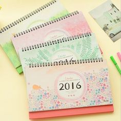 """""""Peaceful Forest"""" 1pc Big 2016 Desk Calendar Cute Scheduler Planner Agenda Memo"""