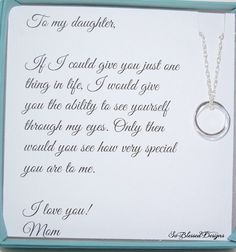 Graduation Signs Discover Gifts for daughter from Mom DAUGHTER necklace To Daughter from Mom Daughters POEM Birthday gift for daughter wedding gift for daughter Birthday Quotes For Daughter, Mother Daughter Quotes, Mom Daughter, Poems For Daughters, Brother Birthday, Proud Of You Quotes Daughter, Brother Sister, Daughter Graduation Quotes, Beautiful Daughter Quotes