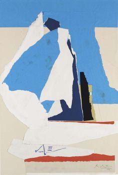 Robert Motherwell (1915-1991)  Australia II (1983)  acrylic on paper collage on board laid down on board