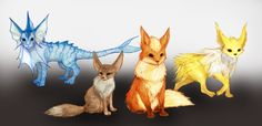 Eevee Family by RtRadke
