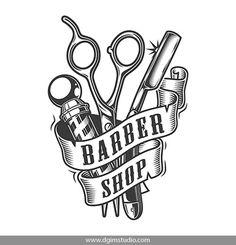 Barber Shop Interior, Hair Salon Interior, Barber Shop Decor, Shop Interior Design, Barber Tattoo, Barber Logo, Vector Design, Logo Design, Best Barber Shop