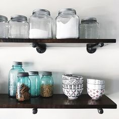 Open Shelves and Glass Canisters