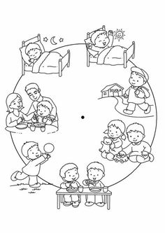 Image may contain: drawing Educational Activities, Preschool Activities, Reflexive Verben, Kindergarten Worksheets, Childhood Education, Teaching English, Pre School, Kids And Parenting, Coloring Pages