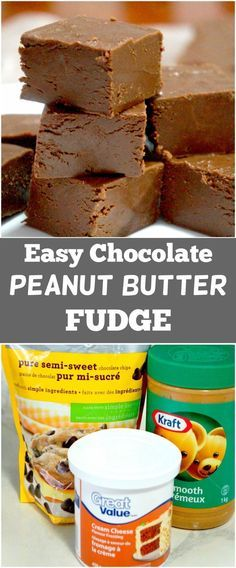 3 Ingredient Chocolate Peanut Butter Fudge. Easy dessert recipe. Frosting Fudge. Microwave fudge.