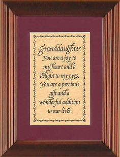 grandaughter quotes with images | granddaughter granddaughter you are a joy to my heart and